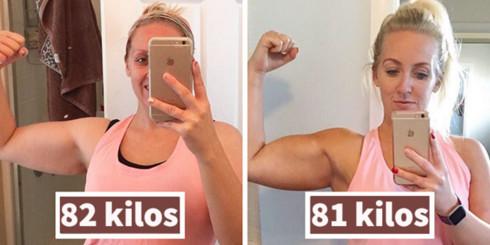 Las drásticas fotos de esta madre antes y después de perder 1 kilo demuestran que el peso solo es un número